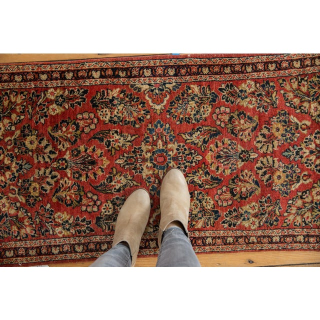 "Vintage American Sarouk Rug Runner - 2'2"" X 4'2"" For Sale - Image 9 of 11"