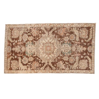 "Vintage Distressed Sparta Carpet - 5'3"" X 9'4"" For Sale"