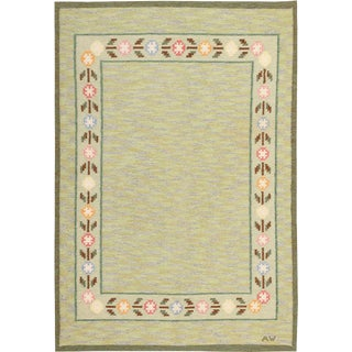 Late 20th Century Swedish Rug - 5′5″ × 8′ For Sale