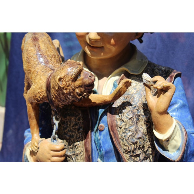 Late 19th Century Late 19th C. Bruders Urbach Earthenware Sculpture For Sale - Image 5 of 12