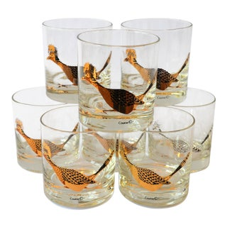 Couroc Road Runner Low Ball Glasses - Set of 8