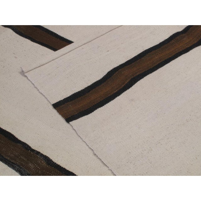 Banded Kilim Wide Runner For Sale In New York - Image 6 of 7