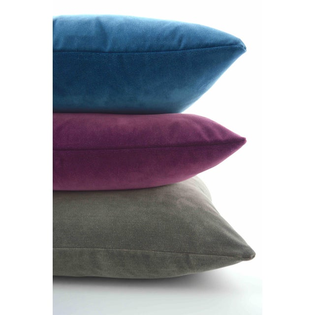 Rich and soft Burgundy FirmaMenta velvet pillow. Brighten your room with colors and a luxe touch. Super soft Italian...