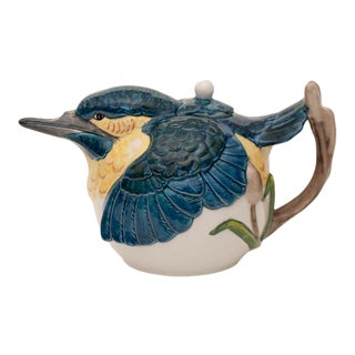 Antique Staffordshire Figurative Bird Tea Pot For Sale