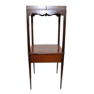19th Century English Traditional Mahogany Sewing Table For Sale