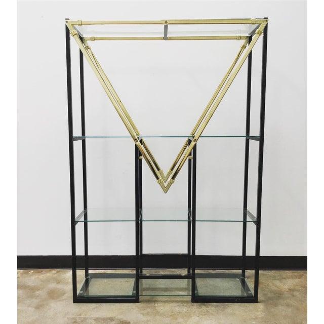"Milo Baughman Mid-Century Modern Style Geometric ""m"" Etagere For Sale - Image 4 of 4"