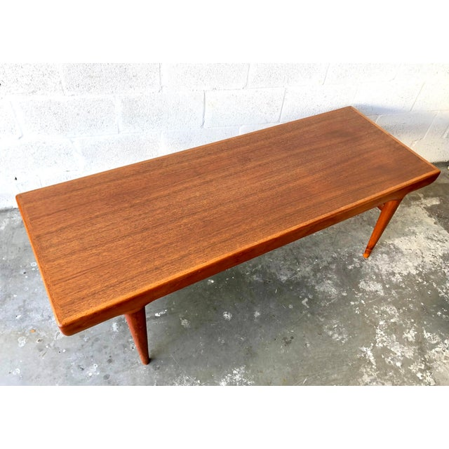 Vintage Mid Century Danish Modern Johannes Andersen Coffee Table for C F C Silkeborg For Sale - Image 13 of 13