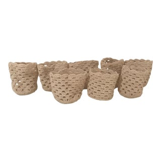 Knitted Drink Holders - Set of 8 For Sale