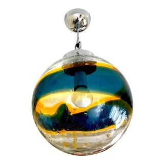 Vistosi Murano Pendant Glass Globe Handblown 35 Cm, 1960