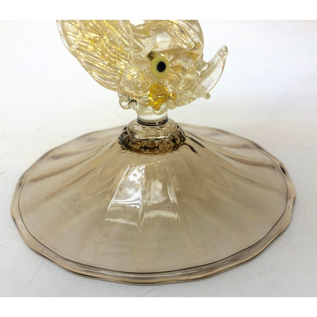 Murano Italy fish compote. Excellent condition. No chips or cracks. Measures H 7.25 in. x Dm 6.5 in.