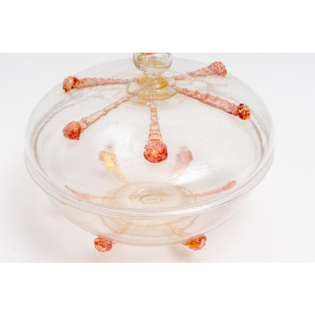 1930s 1930s Barovier E Toso Murano Glass Bonbonniere Candy Dish For Sale - Image 5 of 9