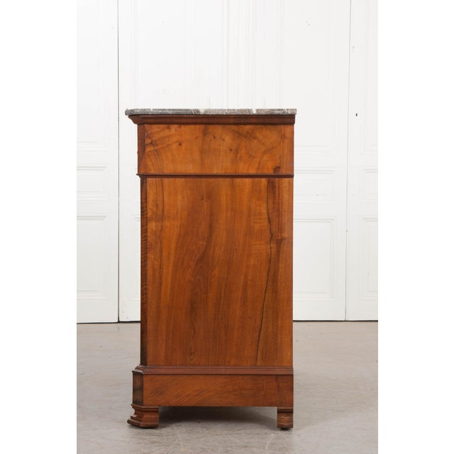 French 19th Century Louis Philippe Walnut Drop-Front Desk For Sale - Image 11 of 12