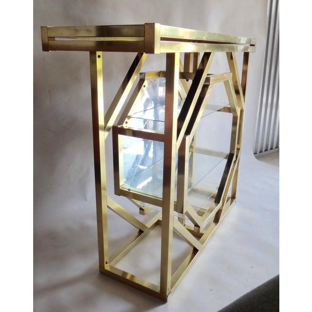 Brass Pivoting Octagon Display Bar - Image 3 of 11