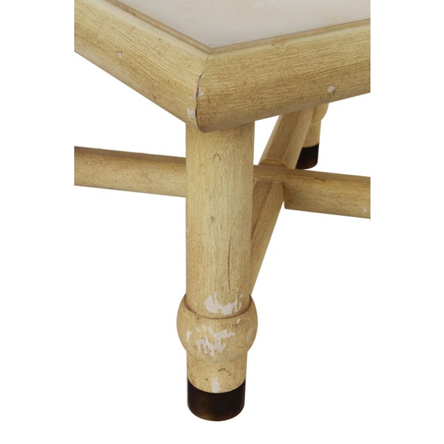 Side Table with X Base and Onyx Top in the Style of Karl Springer For Sale - Image 6 of 7