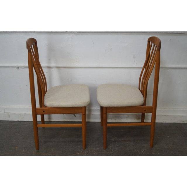 Benny Linden Solid Teak Dining Chairs Set Of 8 Chairish