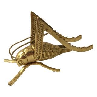 Brass Grasshopper Figurine