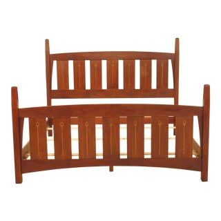 Stickley Harvey Ellis King Size Cherry Arts & Crafts Style Bed For Sale