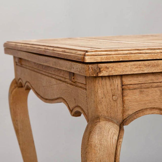 French Bleached Oak Table with Self Storing Leaves - Image 3 of 9