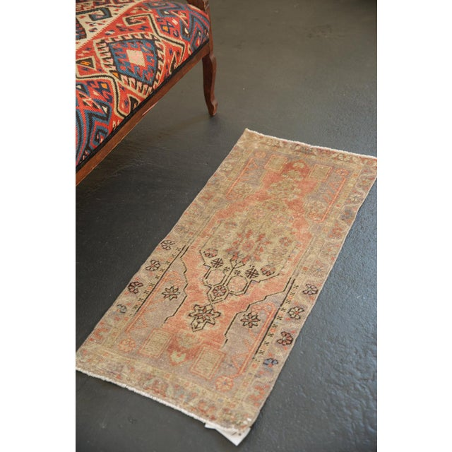 "Old New House Vintage Distressed Oushak Rug Mat Runner - 1'7"" X 3'5"" For Sale - Image 4 of 7"