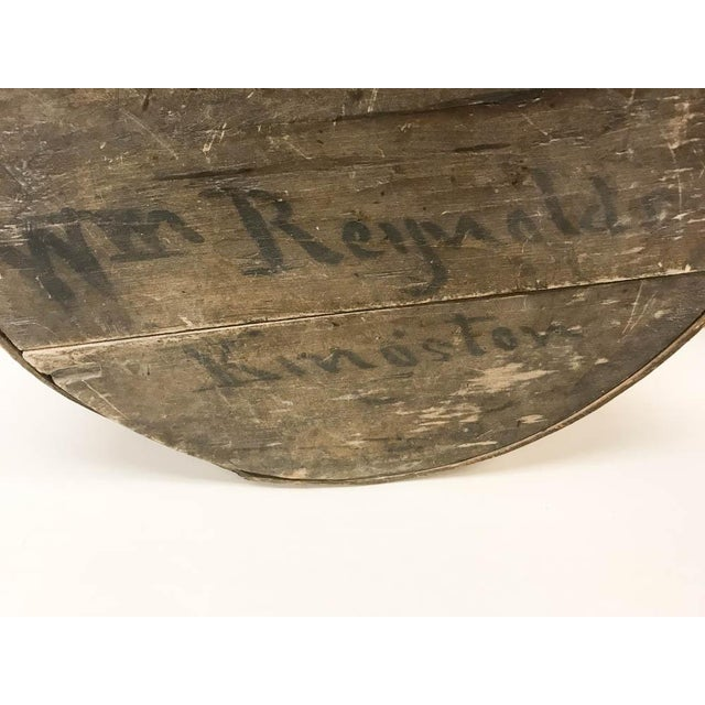 Americana Antique Round Wood Box - Kingston, Ny For Sale - Image 3 of 8