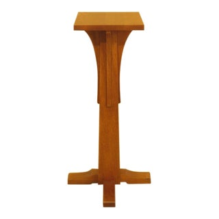 Stickley Mission Oak Arts & Crafts Pedestal Stand For Sale
