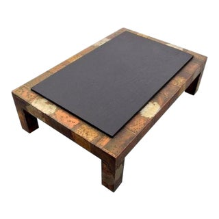 Large Paul Evans Patchwork Coffee Table For Sale