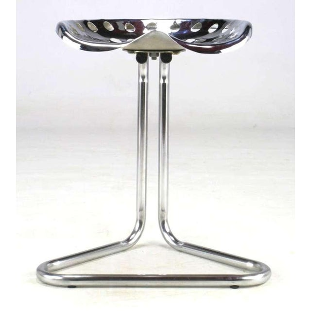 Modern Cantilevered Chrome Tractor Seat Stool. For Sale - Image 3 of 6