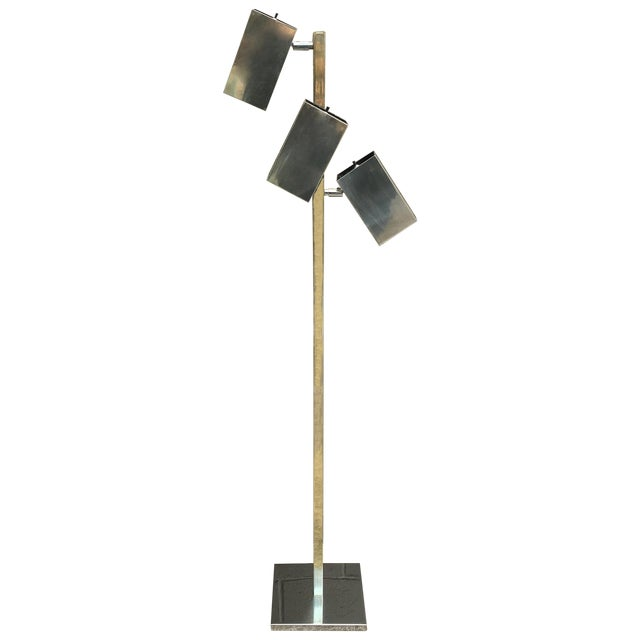 Robert Sonneman 3 Cube Floor Lamp 1970\'s | Chairish