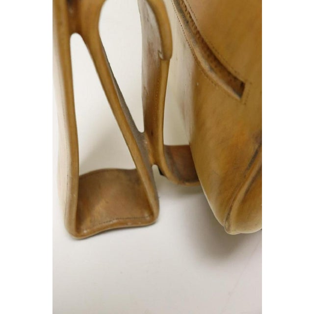 Tan Vintage Carved Wood Decorative Golf Bag For Sale - Image 8 of 11