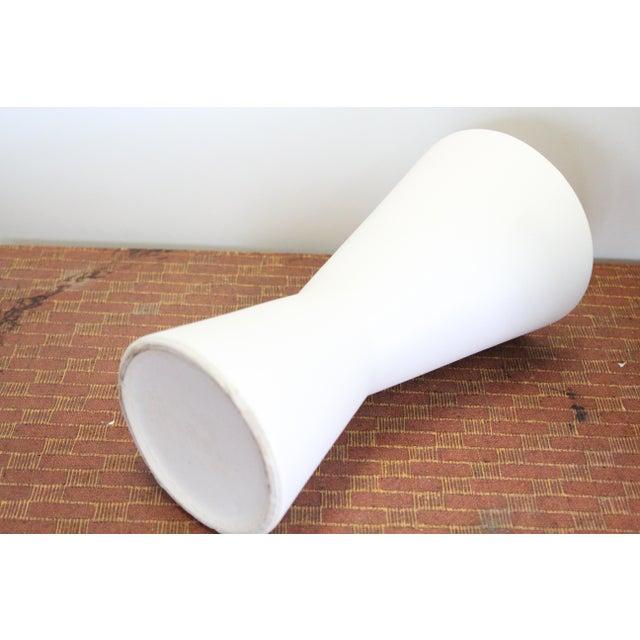 Modern Vintage Modern White Vase For Sale - Image 3 of 4