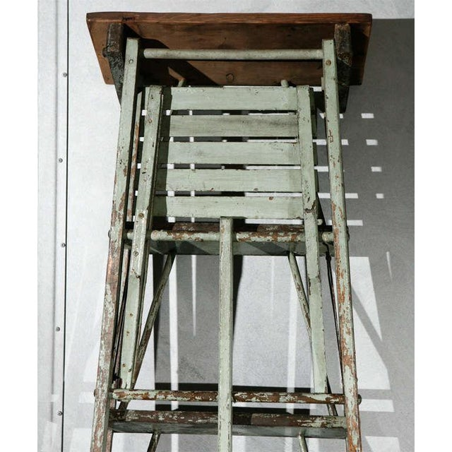 Vintage Painted Ladder as a Display Stand For Sale - Image 10 of 10