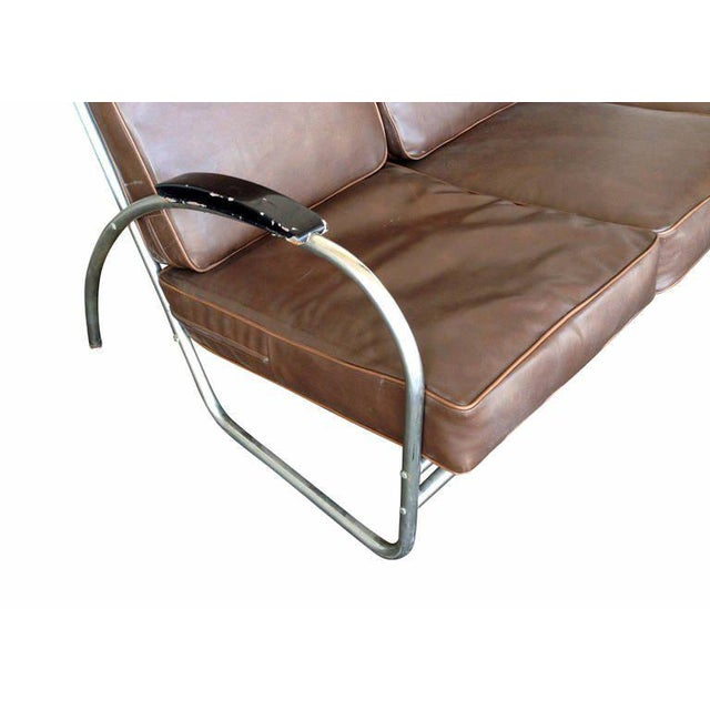 Wolfgang Hoffmann Style Chrome Tublar Sofa by Royal Metal - Image 8 of 9