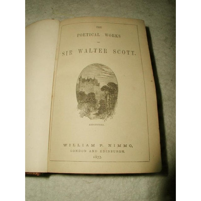 """""""Scott's Poetical Works"""" Illustrated Leather Bound - Image 4 of 8"""