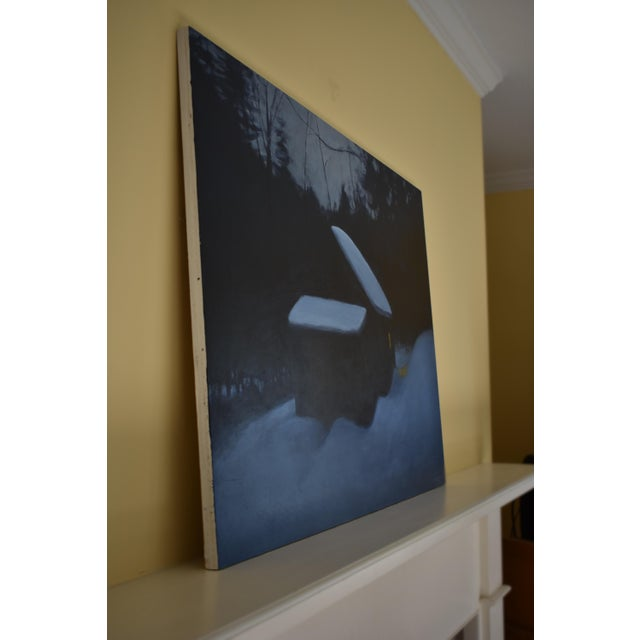 """Black Stephen Remick, """"Cozy"""", Contemporary Painting For Sale - Image 8 of 11"""