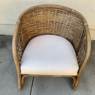 Boho Vintage Woven Rattan Bamboo Armchair Preview