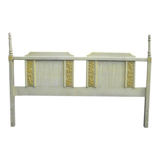 French Painted King Size Headboard For Sale