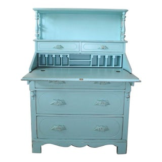 Painted Victorian Slant Front Desk