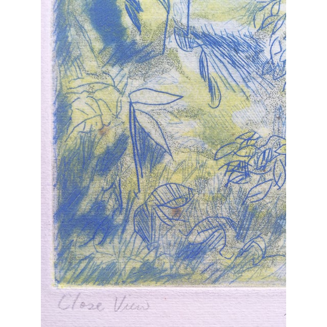 """Late 20th Century """"Close View"""" Landscape Etching by Ray Brown For Sale - Image 5 of 6"""