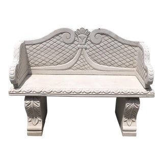 Sand Cast Stone Garden Bench From Morocco