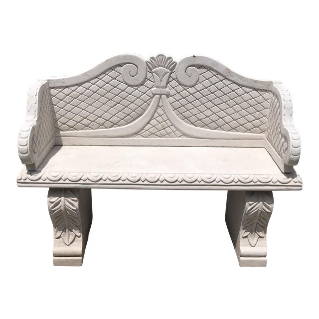 Awesome Sand Cast Stone Garden Bench From Morocco Frankydiablos Diy Chair Ideas Frankydiabloscom