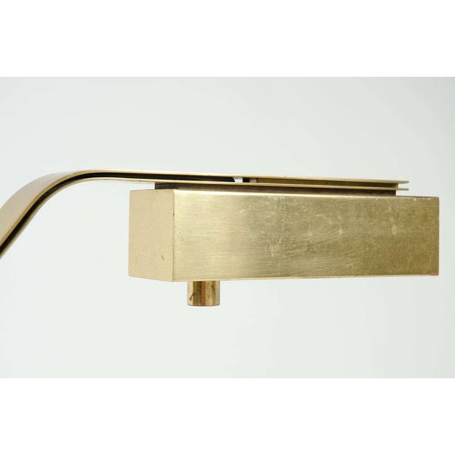 Gold Casella Brass Flat Bar Cantilevered Table Lamp For Sale - Image 8 of 9