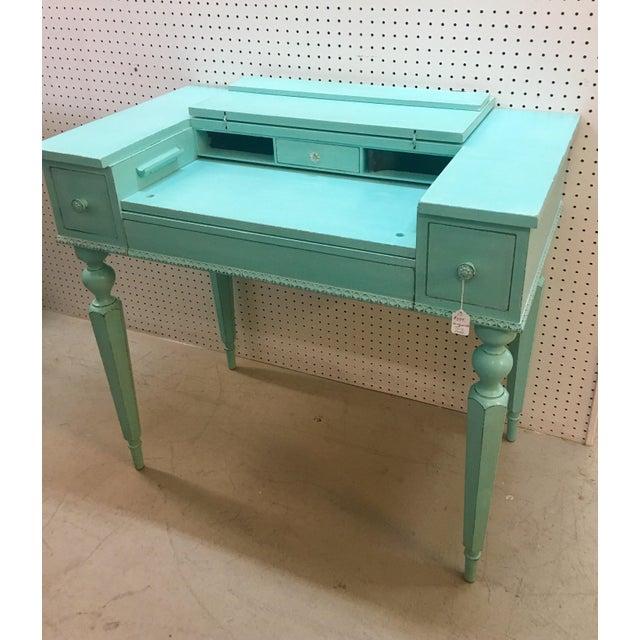 Seafoam Green Antique Desk - Image 3 of 6