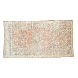 "Vintage Distressed Oushak Rug Runner - 2'8"" X 5' For Sale"