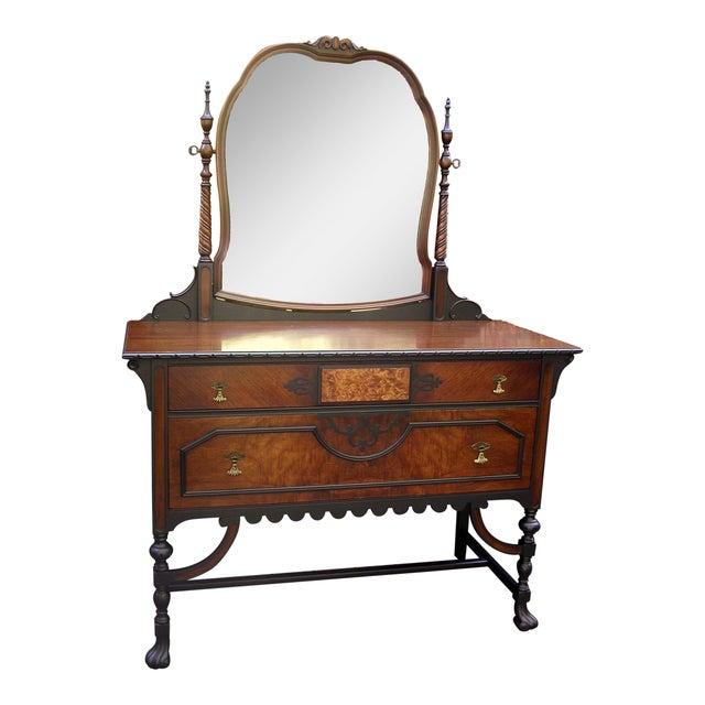 Gothic Jacobean Mahogany Dresser - Image 1 of 11