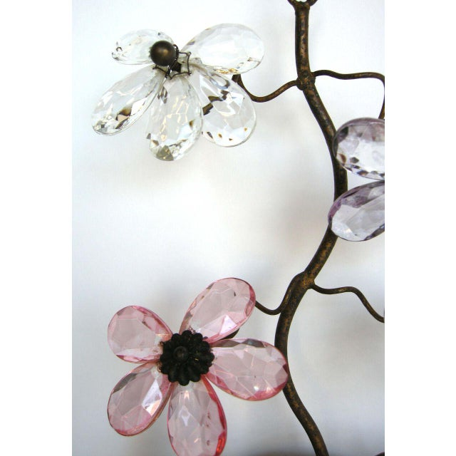 Pink Pair of 1930's French Glass Sconces For Sale - Image 8 of 8