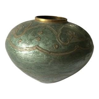 Solid Brass Enamel Vessel