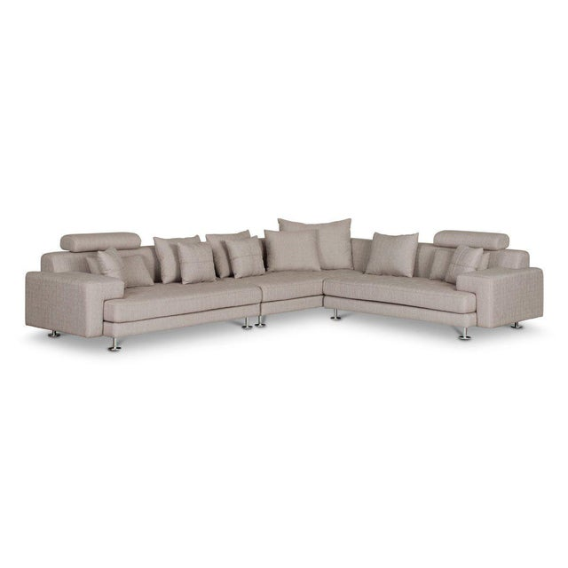 Silver Cepella Left Seated Sectional by Scandinavian Designs For Sale - Image 8 of 11