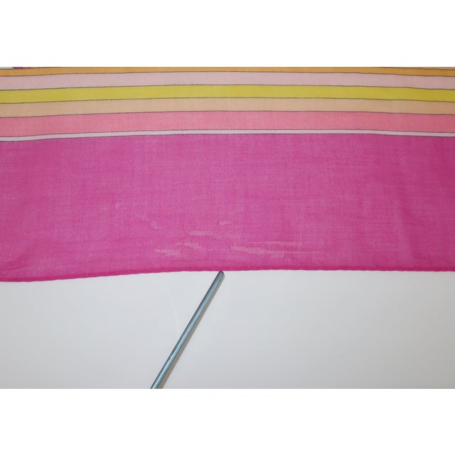 Large Emilio Pucci Cotton Sarong Length Scarf For Sale - Image 11 of 12