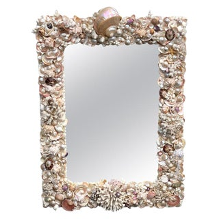 Specimen Shell and Coral Encrusted Mirror Attributed to Anthony Redmile For Sale