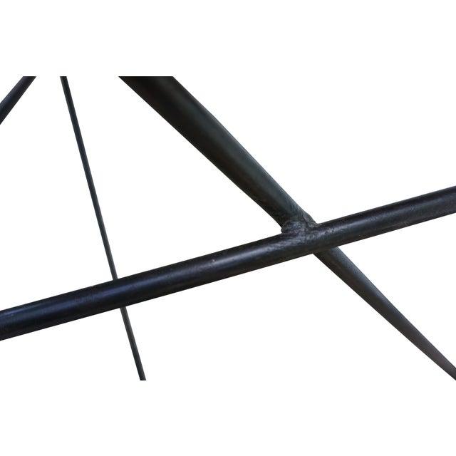 Modern Industrial Steel & Cedar Desk - Image 6 of 8